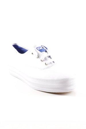 Keds Schnürschuhe weiß-blau Casual-Look