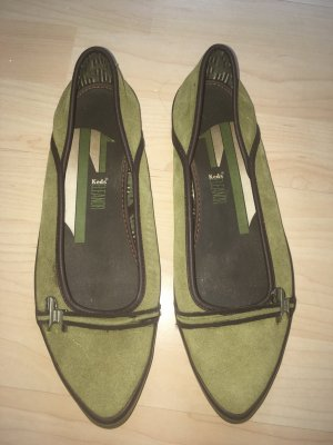 Keds Ballerinas with Toecap olive green-khaki