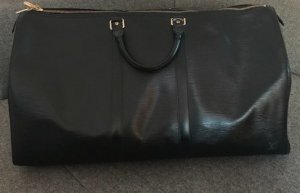 Louis Vuitton Weekendtas zwart Leer