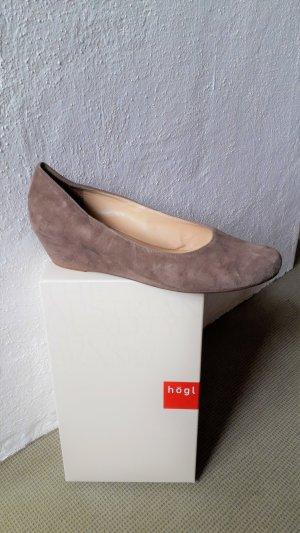 Högl Wedge Pumps camel leather