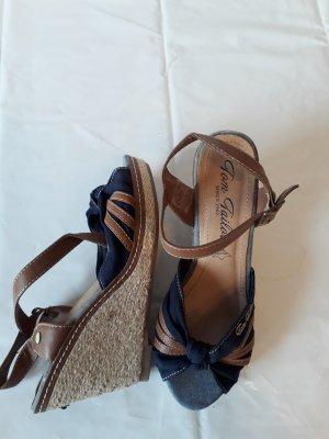 Tom Tailor Strapped High-Heeled Sandals dark blue