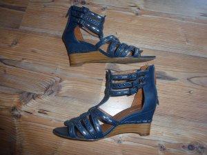 Keil Sandalen mit Nieten Gr. 40