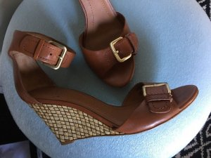 Zara Wedge Sandals multicolored leather