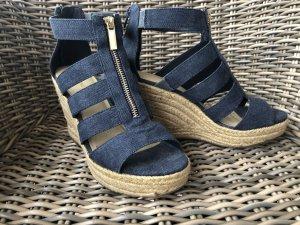 Keil Sandalette - Jeans