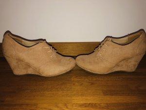 Graceland Wedge Booties brown-light brown