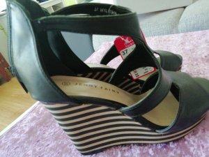 Sandales à plateforme noir-marron clair