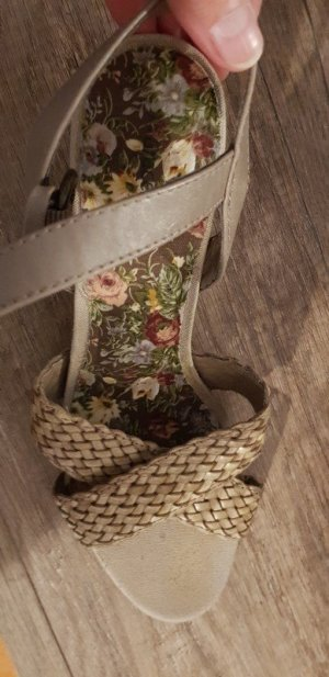 Comfortabele sandalen camel-grijs-bruin