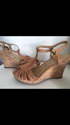 Keilabsatz Sandale - Leder