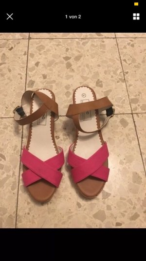 Strapped Sandals pink-brown