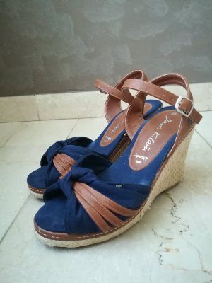 Jane Klain Wedge Sandals brown-dark blue