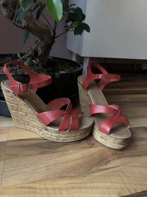 Keilabsatz Sandalen, Cox 2 mal getragen