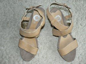 Sandalen zandig bruin-beige Imitatie leer