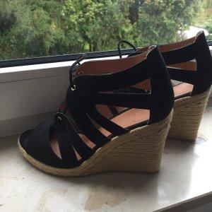 Keilabsatz Sandalen H&M schwarz