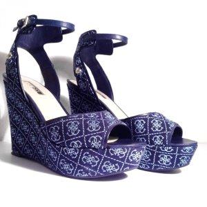 Guess Plateauzool sandalen veelkleurig Leer