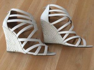Keilabsatz Sandaletten *beige*