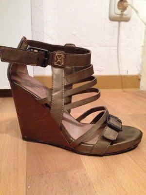 Edc Esprit High-Heeled Sandals bronze-colored