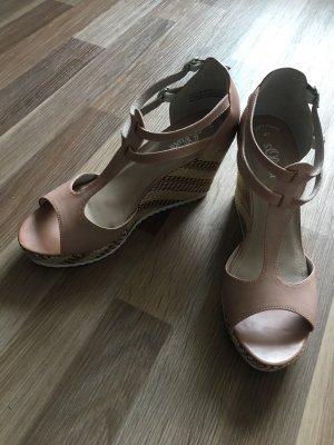 Keilabsatz Sandaletten in Rosé von S.Oliver