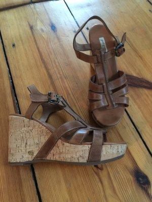 Keilabsatz-Sandaletten PAUL GREEN - echt Leder