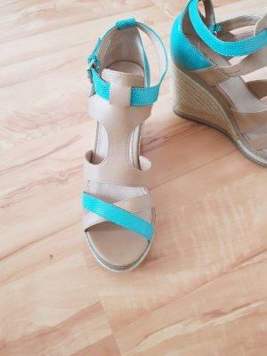 Promod Platform High-Heeled Sandal light brown-turquoise