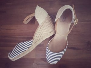 Wedge Sandals dark blue-white