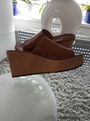 Keilabsatz Schuhe/Schlappen, Gr. 38