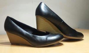 Keilabsatz Schuhe - schwarz