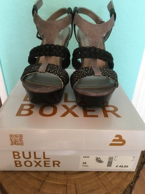 Bullboxer High-Heeled Sandals black-grey brown
