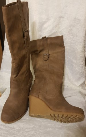 Platform Boots grey brown