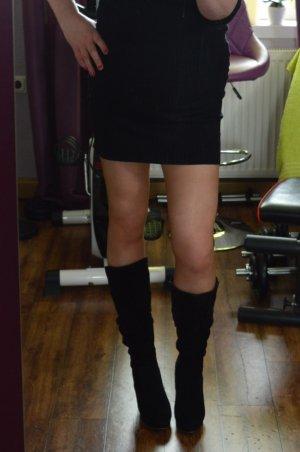 Belle Women Botas con tacón negro