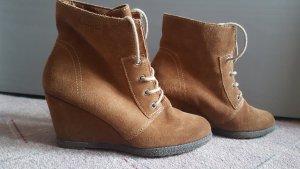 Tamaris Bottines à lacets marron clair-brun