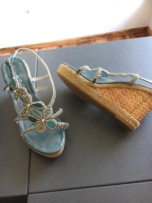 Keilabsatz/Wedges Sandalette nur 1x getragen von Alma en Pena Strass