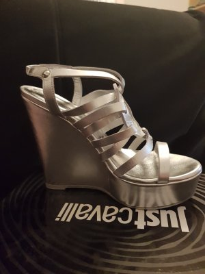 Just cavalli Wedge Sandals silver-colored