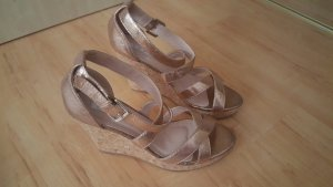 Wedge Sandals rose-gold-coloured