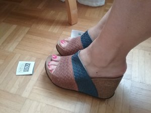 Keilabsatzschuhe Korkabsatz, Vita Unica NEU! BOHO / FESTIVAL, super Fußbett!