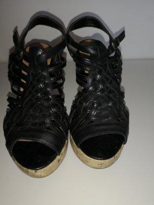 New Look Plateauzool Sandalen met Hoge Hakken zwart