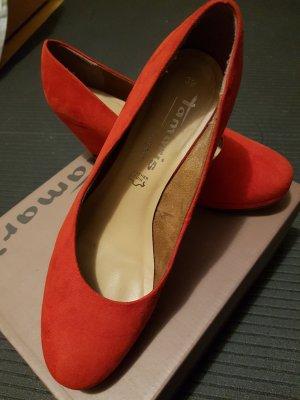 Tamaris Zapatos de cuña rojo ladrillo-rojo claro