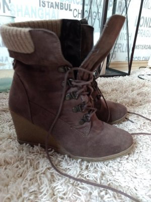 Cube Short Boots brown-cream