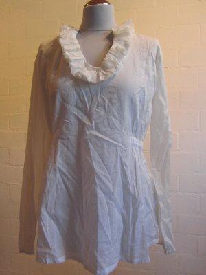 KEILANI: Bluse weiß mit tollem Ausschnitt, Gr. 38, NEU