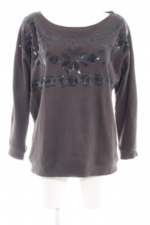 Keilani Norwegian Sweater dark grey casual look