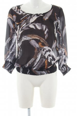 Keilani Slip-over blouse abstract patroon casual uitstraling