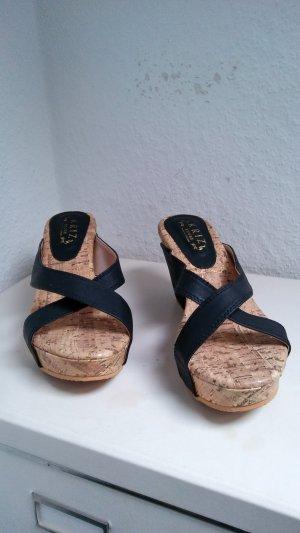 Sandalias con tacón multicolor Imitación de cuero