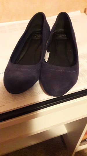 Keilpumps Velour Arizona blau Gr 36