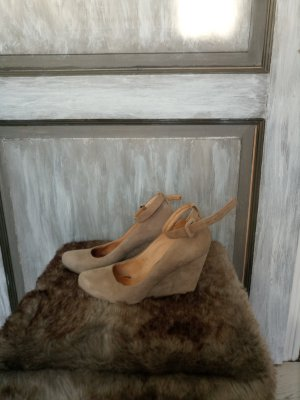 Keilpumps von 5th Avenue, Gr. 39, taupe