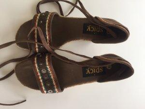 Espadrille Sandals dark brown