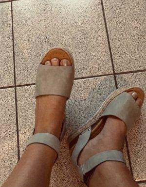 Alpargatas gris claro-marrón arena