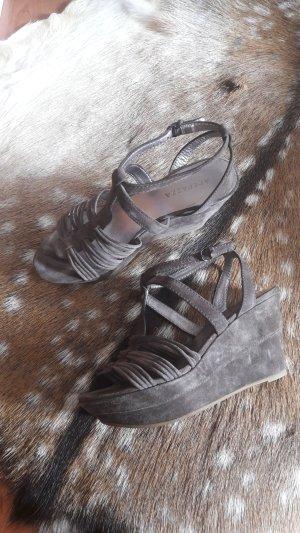 Apepazza Wedge Sandals khaki suede