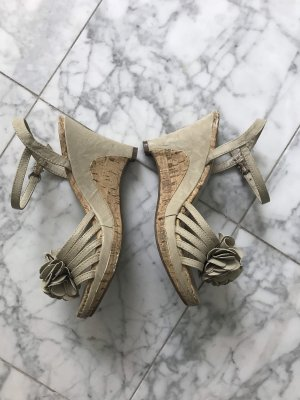 Zalando Plateauzool sandalen grijs-groen