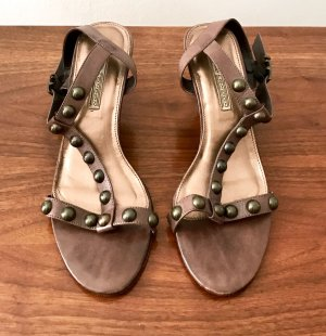 Buffalo Strapped Sandals bronze-colored-dark brown