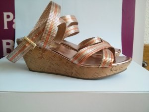 Keilsandalen Riemchenpumps Wedges Sandalen Gr 39 gold bronze orange