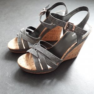Graceland Wedge Sandals silver-colored-gold-colored